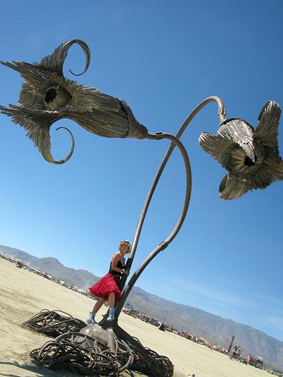 Infinitarium playa art Burning Man 2010 Metropolis Black Rock City